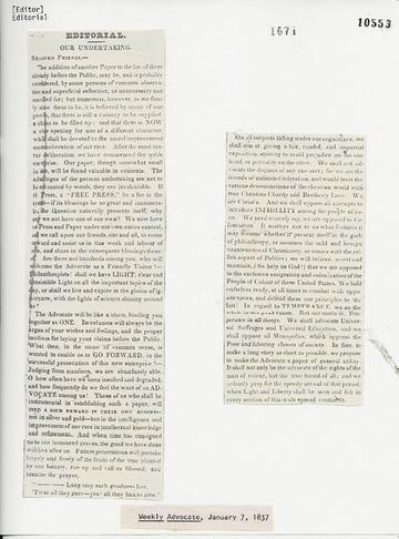 Weekly Advocate - January 7, 1837
