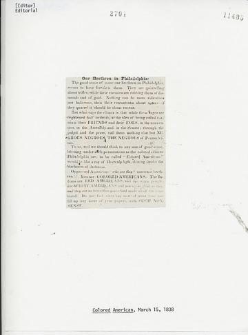 Colored American - March 15, 1838