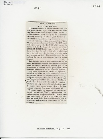 Colored American - July 28, 1838