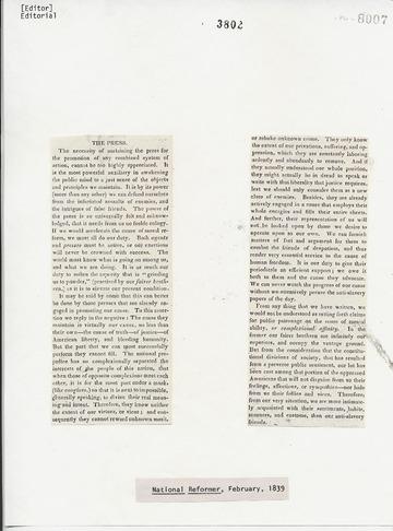 National Reformer - February, 1839