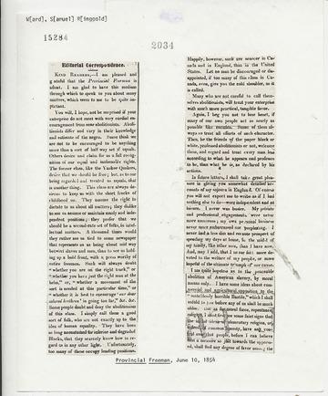 Provincial Freeman - June 10, 1854