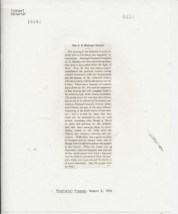 Provincial Freeman - August 5, 1854