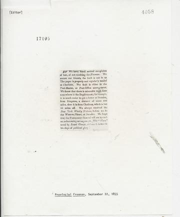 Provincial Freeman - September 22, 1855