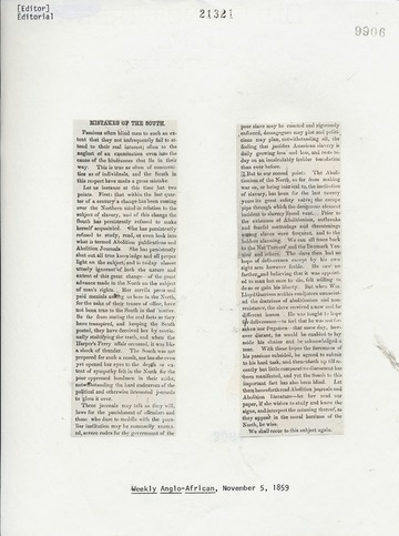 Weekly Anglo-African - November 5, 1859