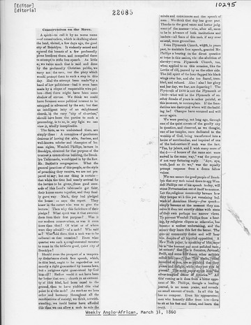 Weekly Anglo-African - March 31, 1860