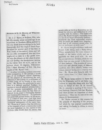 Weekly Anglo-African - June 2, 1860