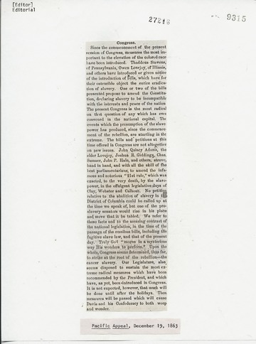 Pacific Appeal - December 19, 1863