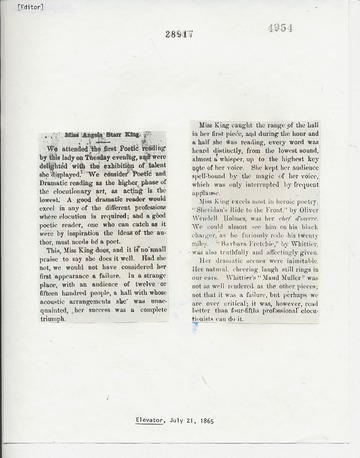 Elevator - July 21, 1865