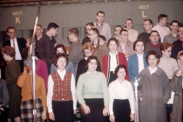 University of Detroit Chorus Collection: Rehearsal - December 1961