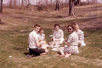 University of Detroit Chorus Collection: Picnic en Route to Muskegon - 1963