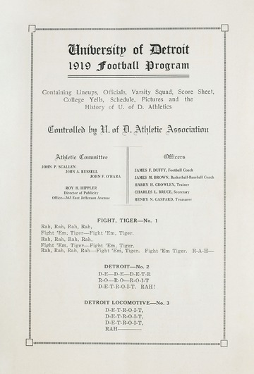 University of Detroit Football Collection: University of Detroit vs. Holy Cross
