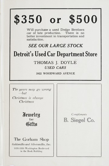 University of Detroit Football Collection: University of Detroit Post Season Program
