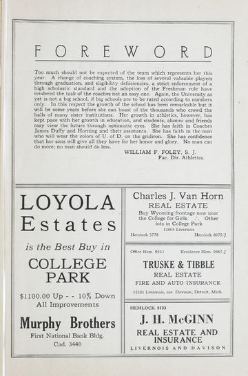 University of Detroit Football Collection: University of Detroit vs. Ohio Wesleyan