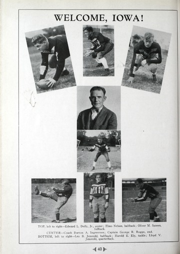 University of Detroit Football Collection: University of Detroit vs. University of Iowa Program