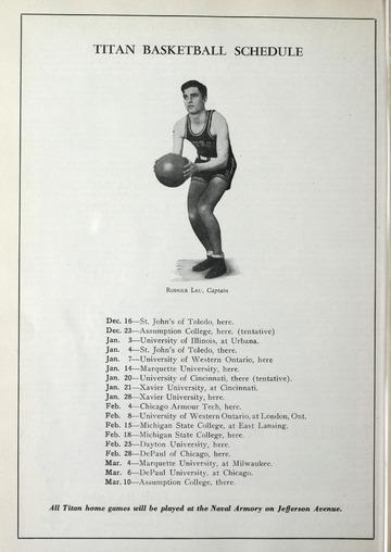 University of Detroit Football Collection: University of Detroit vs. Oregon State Program