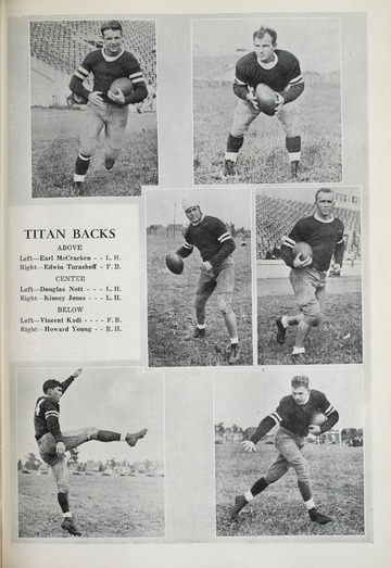 University of Detroit Football Collection: University of Detroit vs. Holy Cross College Program