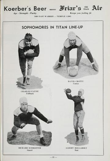 University of Detroit Football Collection: University of Detroit vs. Olkahoma A&M Program