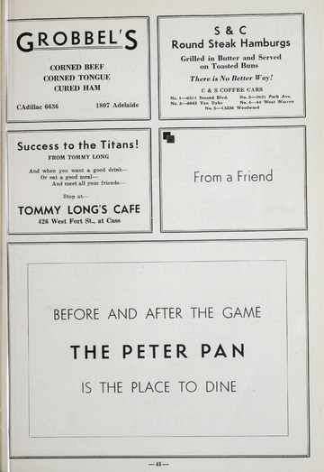 University of Detroit Football Collection: University of Detroit vs. Catholic University Program