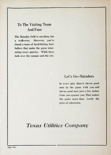 University of Detroit Football Collection: University of Detroit vs. Texas Tech Matadors Program