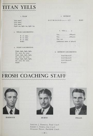 University of Detroit Football Collection: University of Detroit vs. Auburn Program