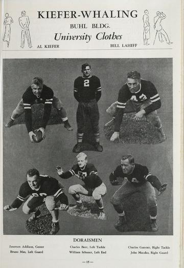 University of Detroit Football Collection: University of Detroit vs. Villanova Program