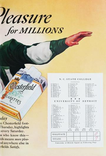 University of Detroit Football Collection: University of Detroit vs. Raleigh North Carolina