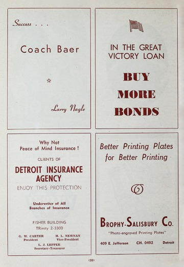University of Detroit Football Collection