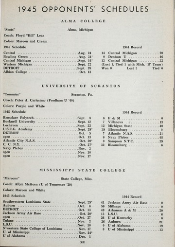 University of Detroit Football Collection: University of Detroit vs. St. Louis University Program