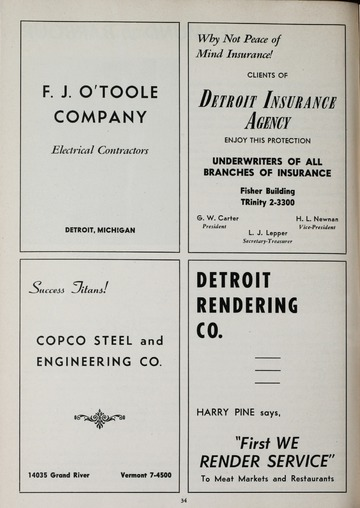 University of Detroit Football Collection: University of Detroit vs. Duquesne Program
