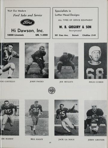 University of Detroit Football Collection: University of Detroit vs. Toledo Program