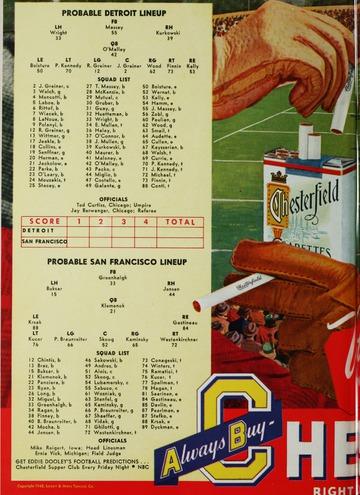 University of Detroit Football Collection: University of Detroit vs. San Francisco Program