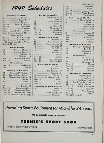 University of Detroit Football Collection: University of Detroit vs. Miami Program