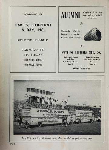 University of Detroit Football Collection: University of Detroit vs. Hillsdale Program