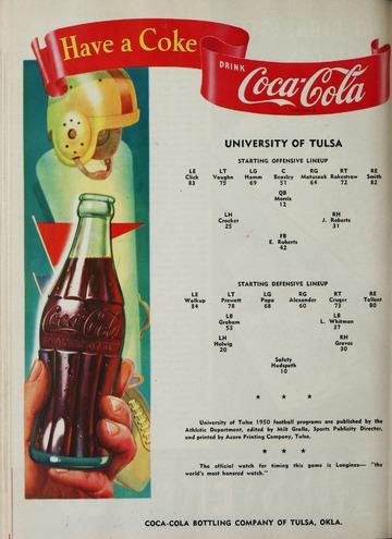 University of Detroit Football Collection: University of Detroit vs. Tulsa Program