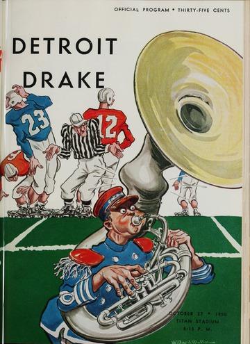 University of Detroit Football Collection: University of Detroit vs. Drake Program