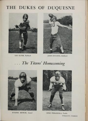 University of Detroit Football Collection: University of Detroit vs. Duquesne Program