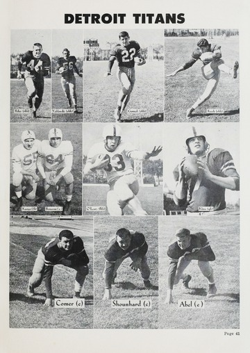 University of Detroit Football Collection: University of Detroit vs. Oklahoma