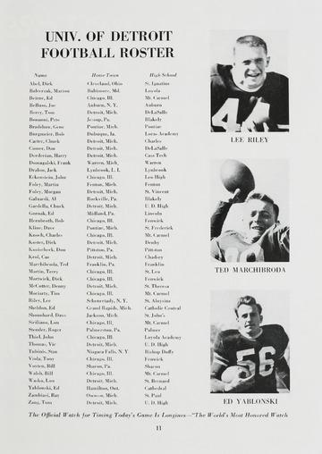 University of Detroit Football Collection: University of Detroit vs. Fordham