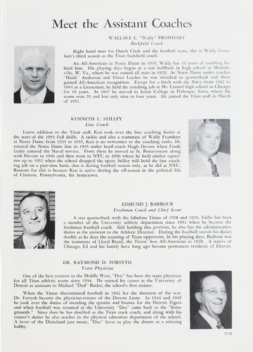 University of Detroit Football Collection: University of Detroit vs. Oklahoma A&M