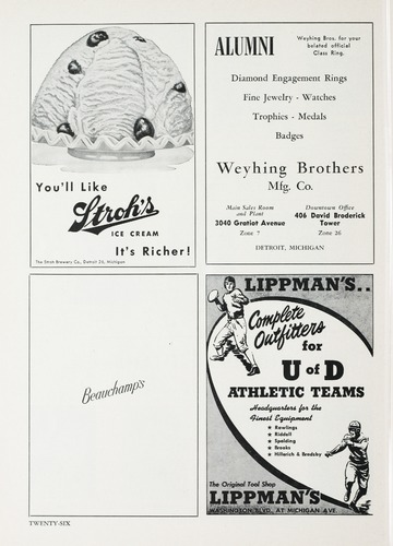 University of Detroit Football Collection: University of Detroit vs. Boston College Program