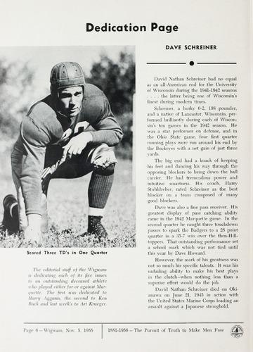 University of Detroit Football Collection: University of Detroit vs. Marquette Program