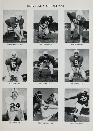 University of Detroit Football Collection: University of Detroit vs. University of Houston Program