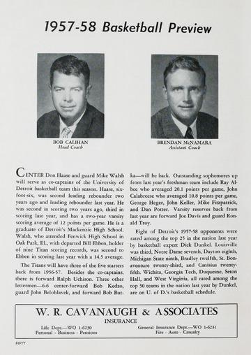University of Detroit Football Collection: University of Detroit vs. Marquette