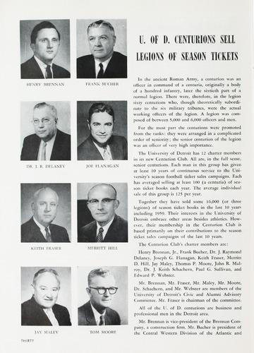 University of Detroit Football Collection: University of Detroit vs. George Washington University Program
