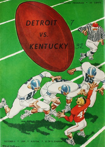 University of Detroit Football Collection: University of Detroit vs. Kentucky