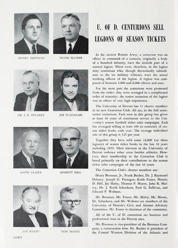 University of Detroit Football Collection: University of Detroit vs. Xavier Program