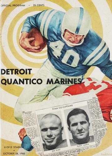 University of Detroit Football Collection: University of Detroit vs. Quantico Marines Program