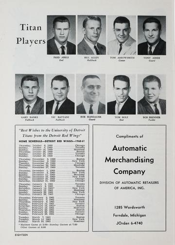 University of Detroit Football Collection: University of Detroit vs. Cincinnati Program