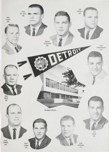 University of Detroit Football Collection: University of Detroit vs. Michigan State