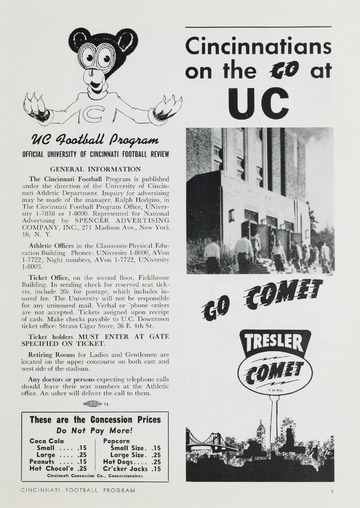 University of Detroit Football Collection: University of Detroit vs. Cincinnati